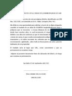 Carta a La Munic San Isdro