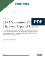 BoozCo CEO Succession 2010 Four Types