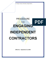 Independent Contractor Procedure