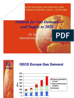 Outlook for Gas Demand & Supply by 2020