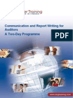 Communication and Report Writing for Auditors 2 Days