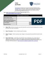 Report Specs Form