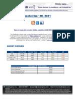 ValuEngine Weekly Newsletter September 30, 2011
