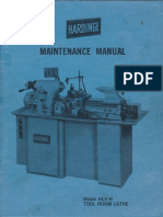 Hardinge HLV-H Maintenance Manual