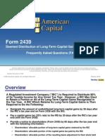 Form2439 FAQ