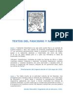 Textos Del Fascismo y Nazismo