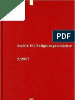 Archiv für Religionsgeschichte Volume 9 - (2007)