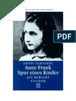 Ernest Schnabel - No Rasto de Anne Frank
