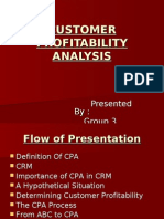 Customer Profitability Analysis