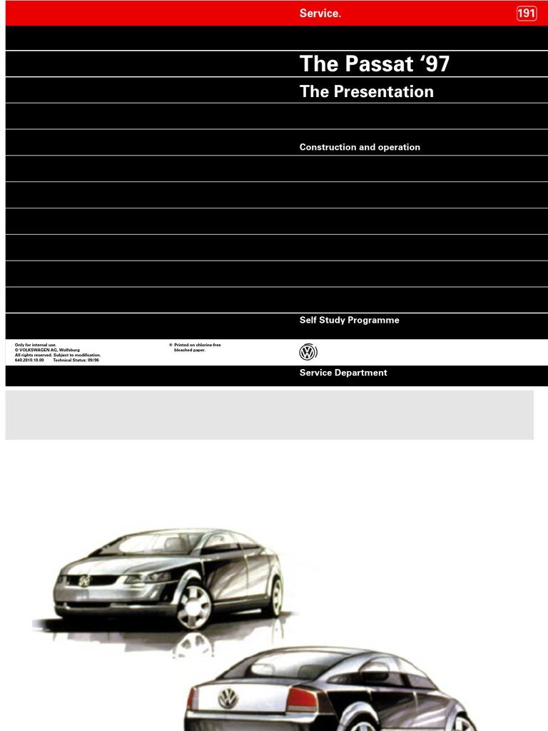 VW Passat B5 - Construction & Operation [SERVICE] | Headlamp | Airbag