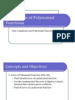 Obj. 6 Zeros of Polynomial Functions (Presentation)