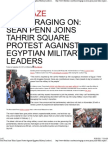 Sean Penn Joins Tahrir Square Protest Against Egyptian Military Leaders
