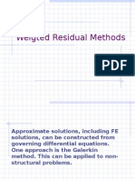Weigted Residual Methods