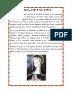 Biografia Santa Rosa y Antonio Brack