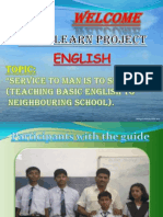 Learn English Community Work PPT