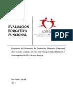Evaluacion Educativa Funcional ADEFAV