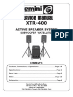 Gemini - Active Speaker XTR-400 - Service Manual