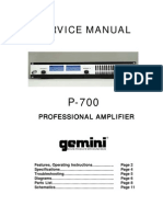 Gemini - Amplifier P-700 - Service Manual