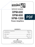 Gemini - Amplifier XPM-600, 900, 1200 - Service Manual