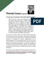Entrevista a Thomas Szasz