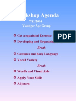 Workshop Agenda 2004-07-11