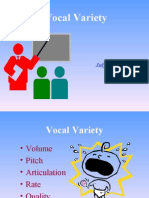 Session D - Vocal Variety