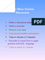 The Buzz Session Discussion Rules