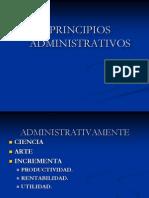 PRINCIPIOS ADMINISTRATIVOS UT