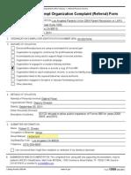 Parent Revolution 13909 Tax-Exempt Organization Complaint (Referral) Form