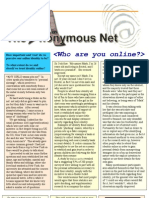 Article for 'Wired' Magazine- ''the Anonymous Net' PDF