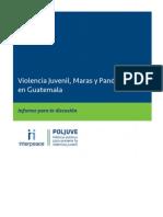 2009 CYG Inter Peace POLJUVE Violencia Juvenil Maras Pandillas GUATEMALA SPANISH