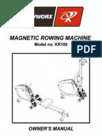 KR100 Mag Rower Manual