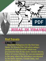 Jose Rizal in Travel