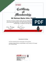 AHM Bazlur Rahman- S21BR ARRL Certificate