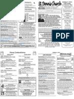 October 2 Bulletin