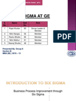 Six Sgma at GE