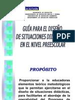Guia para el diseño de situaciones didacticas preescolar