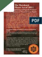 Murakush Free Moors ACT 2011_Flier