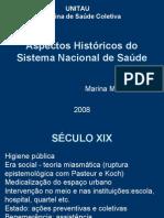 Aspectos Históricos Do Sistema Nacional de Saúde