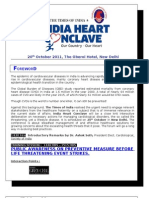 Draft Program India Heart Conclave 30 Sep
