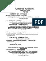 Alimentos Funcionais 1 - Definições - Ana Lucia Cunha - Nutricionista