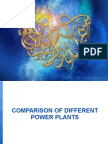 Comparison of Different Power Plants