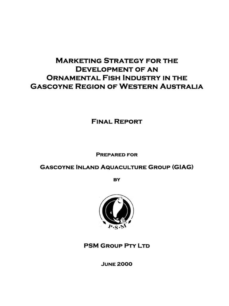 Marketing Strategy For The Development Of An Ornamental Fish Industry Fishkeeping Aquarium
