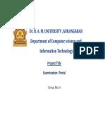 Web Portal for Examination
