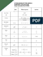Calculator Skills Worksheet - Sp Sharp531
