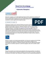 Autonomic Receptors