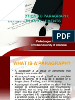Introduction to Paragraph--Definition and Elements