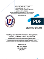 Internship Report On Performance Management System, Greameenphone