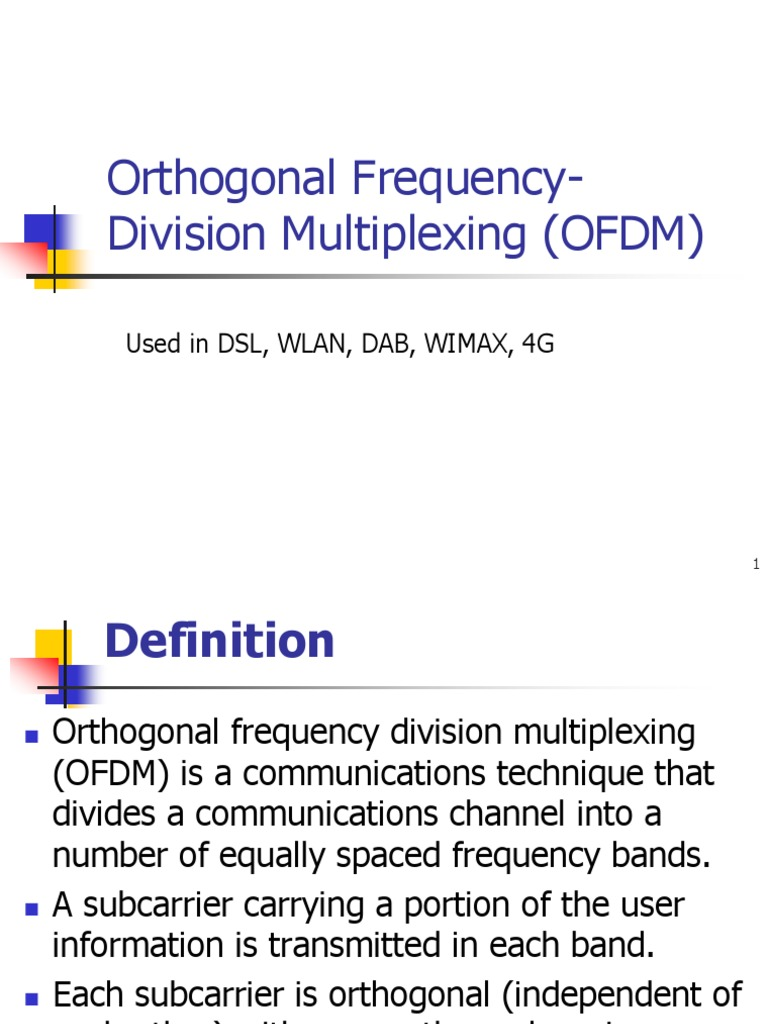 ofdm | orthogonal frequency division multiplexing | modulation