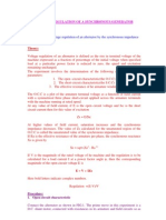 Voltage Regulation of Generators